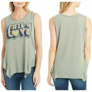 Jessica Simpson Vintage All 4 Love Graphic Tank
